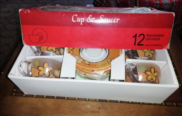 Used Cup and saucer     new pack. in Dubai, UAE