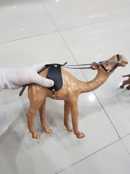 Used Wooden Hand carved Camel & Calf |SPN59 in Dubai, UAE