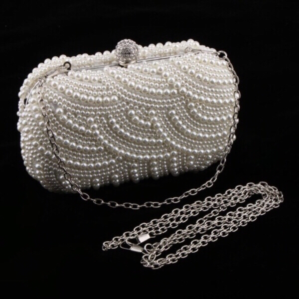 Used Pearl clutch with 2 chain straps in Dubai, UAE