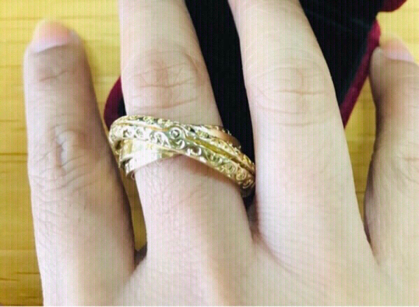Used Astronomical Ball Ring Gold plated ♏️ in Dubai, UAE