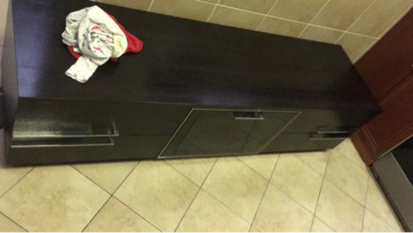 Used Tv cabinet and debenhams dress  in Dubai, UAE
