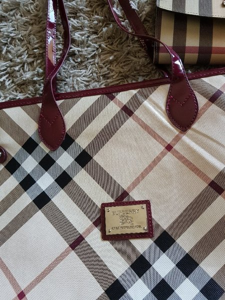 Burberry bag and wallet copy