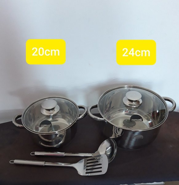 Used Stainless steel cookware set )new in Dubai, UAE