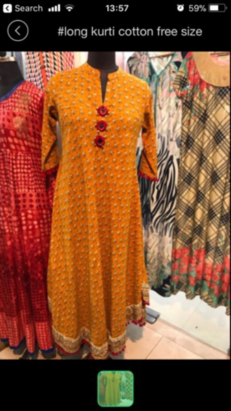 Used Large size full flair long kurti  in Dubai, UAE