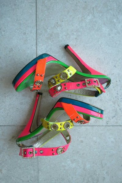 Used Colored and sparkling heels in Dubai, UAE