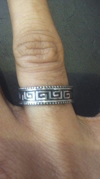 Used Italian silver 925 Band Ring in Dubai, UAE