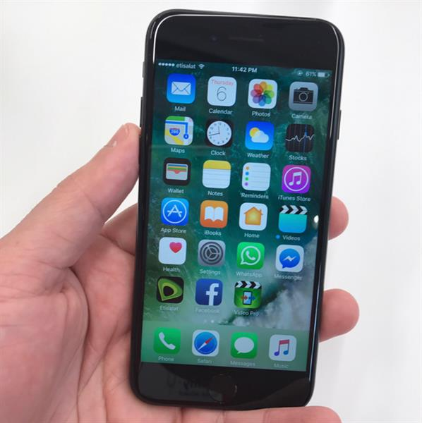 Used Iphone 7 256 Jetblack With Apple Care +(without The Box And Accessories) in Dubai, UAE
