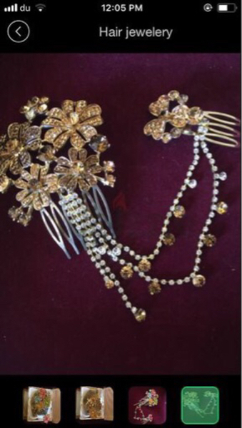 Used Golden color hair jewelery in Dubai, UAE