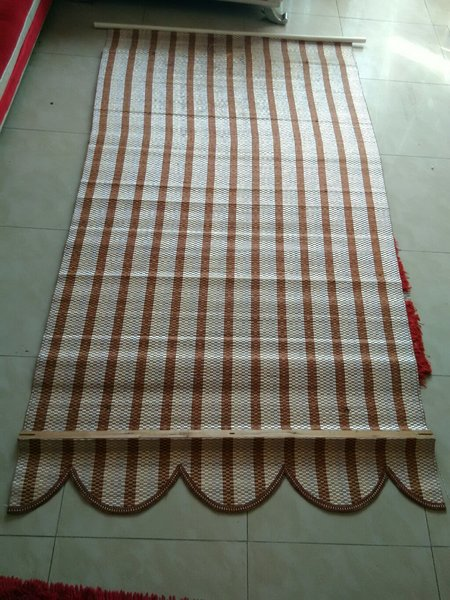 Used Curtain, brown and white, indoor/outdoor in Dubai, UAE
