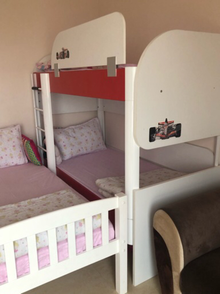 Used Double bed for children's  in Dubai, UAE