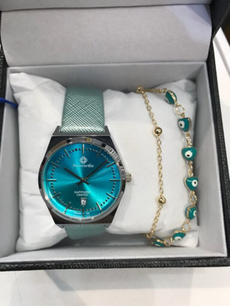 Used Swiscardin blue with bracelets  in Dubai, UAE