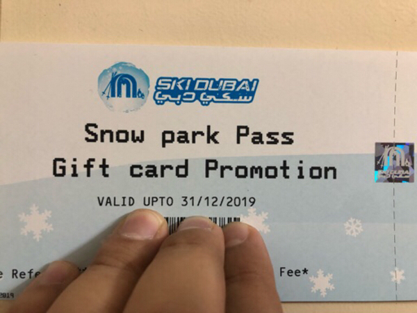 Used Ski Dubai Park Tickets in Dubai, UAE