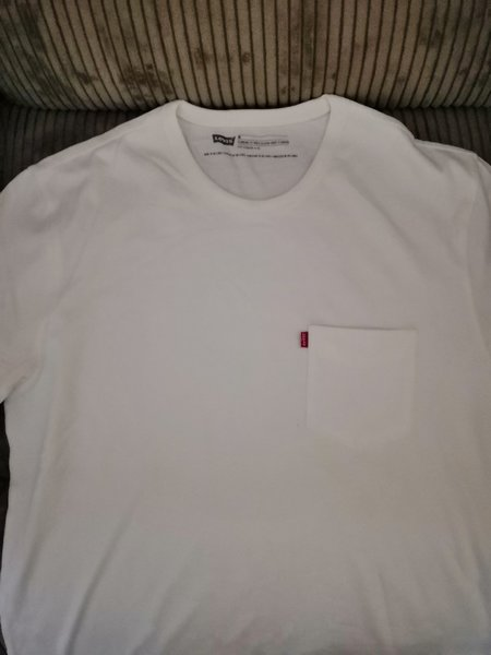 Used Levis white t-shirt brand new! in Dubai, UAE