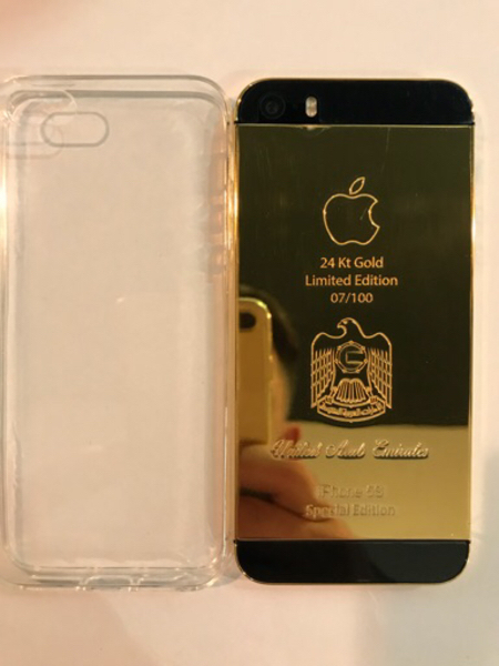 Used Im selling Iphone 5S gold 24 K in Dubai, UAE