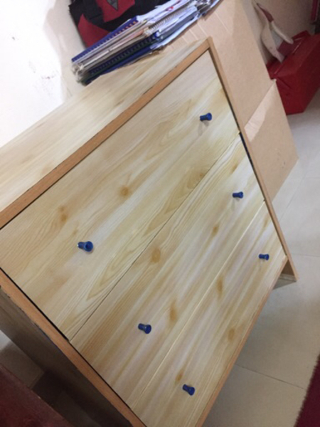 Used Wooden drawer with 3 drawers in Dubai, UAE