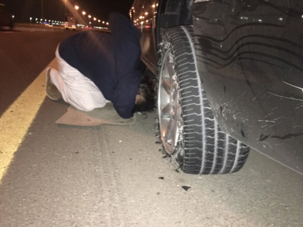 Used Busted tire in Dubai, UAE