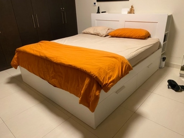 Used IKEA king size bed and mattress in Dubai, UAE