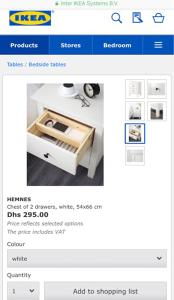Used 2 side chest drawers in Dubai, UAE