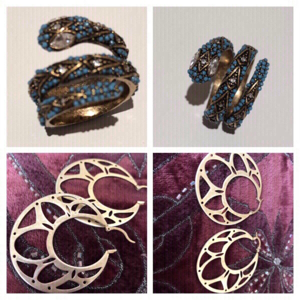 Used Fashion earrings and ring in Dubai, UAE