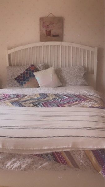 Used White IKEA Queen bed in Dubai, UAE