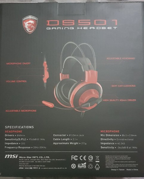 Used MSI gaming headset in Dubai, UAE