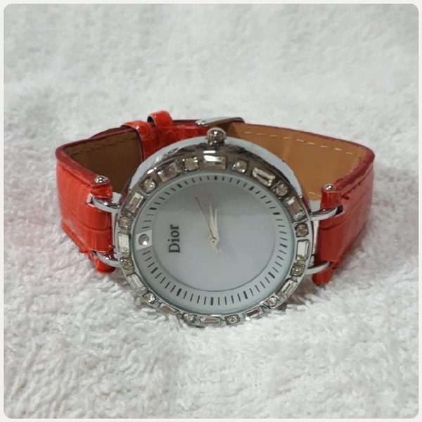 Used Fabulous red DIOR watch for lady.. in Dubai, UAE