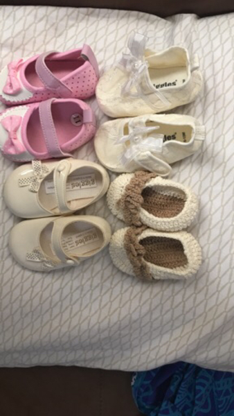Used Kids shoes assorted new born and up in Dubai, UAE