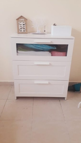 Used 3 draw cupboard(collect privately better in Dubai, UAE