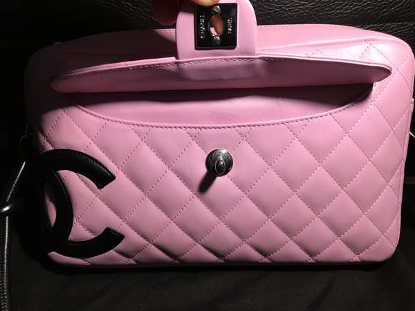 Used Authentic Chanel Cambon Pink Bag in Dubai, UAE
