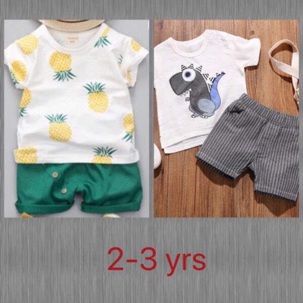 Used Dinosaur/Pineapple Tee & Shorts in Dubai, UAE
