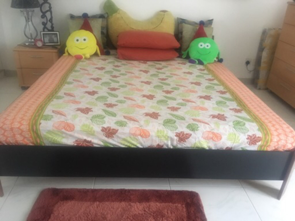 Used King Size Bed 180 X 200 cms  in Dubai, UAE