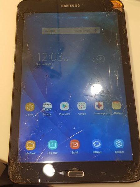 Used Samsung Galaxy TAB A display broken scre in Dubai, UAE