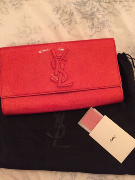 Used Authentic YSL Belle deJour Clutch Red in Dubai, UAE