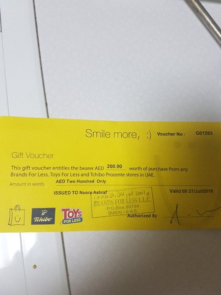 Used Brands For Less Shopping Voucher in Dubai, UAE
