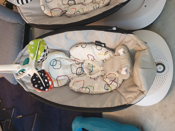 Used 1 or 2 swing chairs with baby seat cover in Dubai, UAE