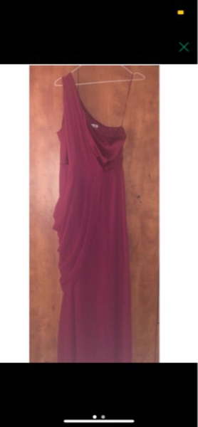 Used Maroon one shoulder dress  in Dubai, UAE