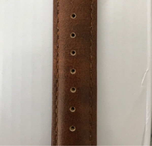Used Brand new Original Leather strap watch in Dubai, UAE