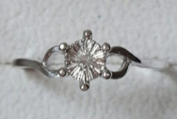 Used 0.02cts real diamond ring in silver new in Dubai, UAE