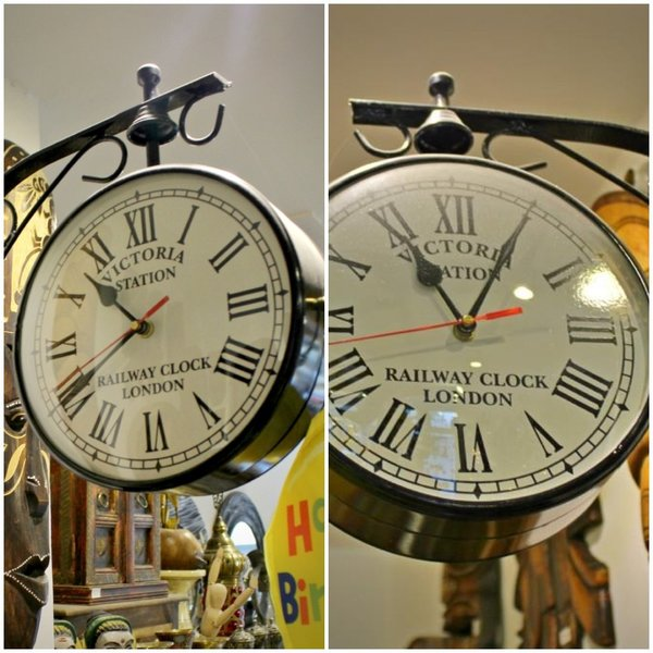Used Vintage Railway Wall Clock on both Sides in Dubai, UAE