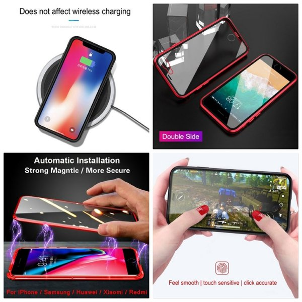 Used New iphone XR magnetic glass case red in Dubai, UAE