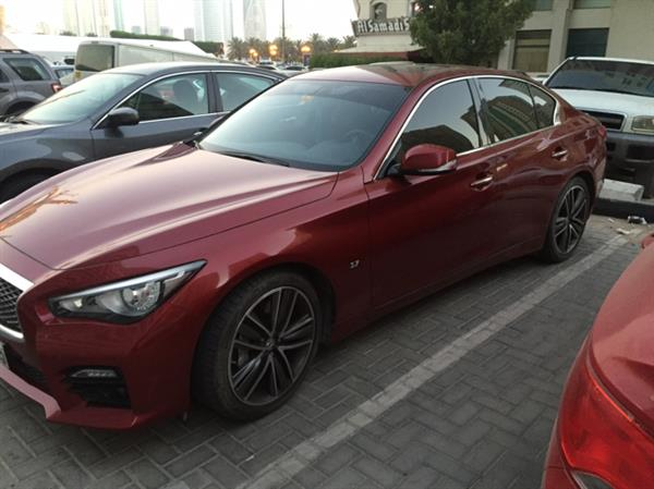 Infiniti Q50 sport for sale cash  Required price 100K   Car is in a very good condition , agency repair and history , driven 30k the car model is 2015   The reason of sale is I have been relocated   Serious buyers please   No agents  Contact# 0551800029