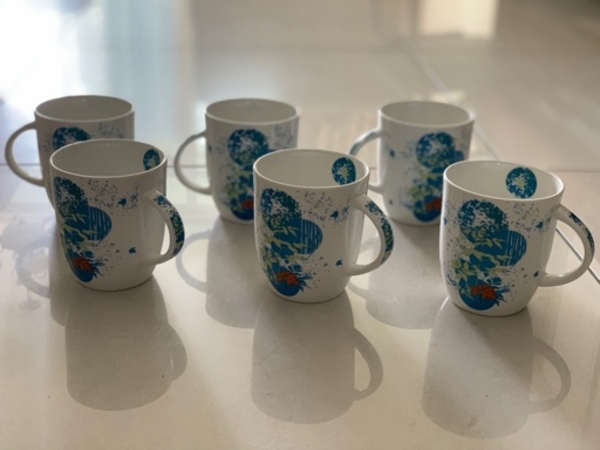 Used New 6 Pcs Coffee/ Milk Mug Earth Design in Dubai, UAE