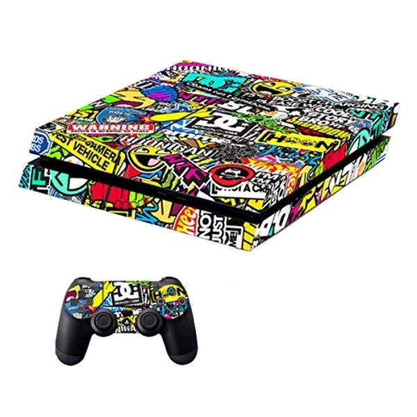 Used PS4 500GB WITH NEW SKIN (1 CONTROLLER) in Dubai, UAE