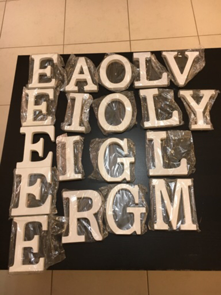 Used White wooden letters in Dubai, UAE