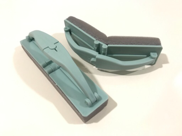 Used NEW Foldable flexible sponge brush blue in Dubai, UAE