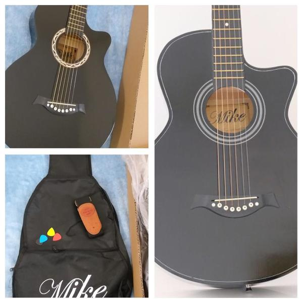 Used Brand New Acoustic Guitar size 38- Black in Dubai, UAE