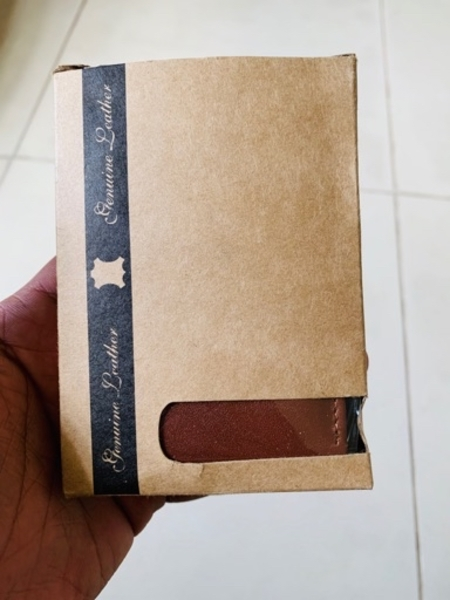 Used Genuine Leather card holder brown in Dubai, UAE
