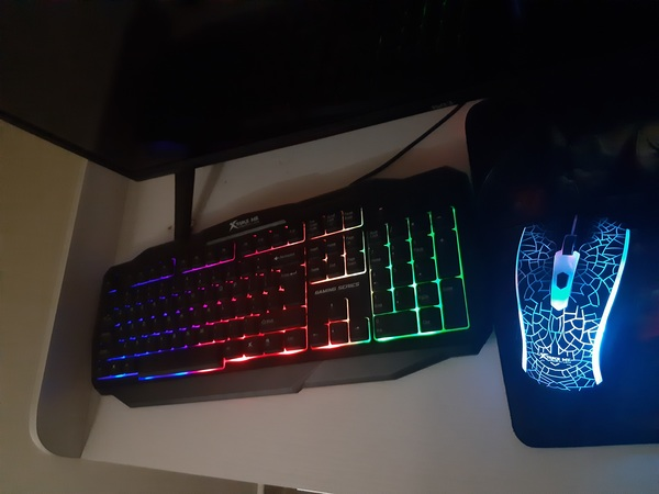 Used Gaming Keyboard and Mouse (Free MousePad in Dubai, UAE