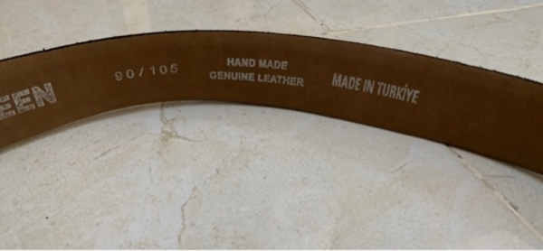 Used Tween genuine leather (suede) belt in Dubai, UAE
