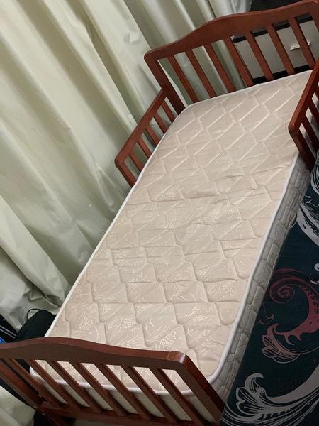 Used Baby bed + Mattress + Bed barrier in Dubai, UAE